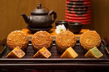 Bánh trung thu và trà