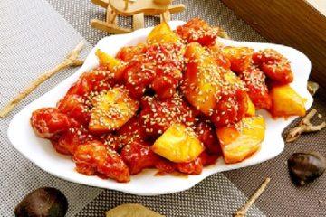 Ăn là mê món gà sốt chua ngọt