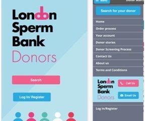 London: Khách hàng có thể lựa chọn tinh trùng theo ý muốn trên mobile