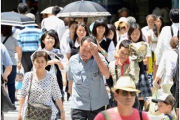 Nắng nóng kéo dài khiến hàng trăm người Nhật nhập viện