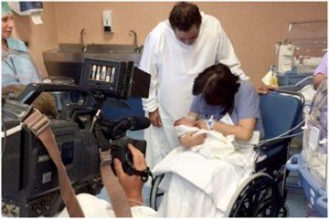 Ý: Người phụ nữ 61 tuổi sinh con đầu lòng không cần hỗ trợ sinh nở
