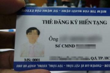 Việt Nam phát hành thẻ đăng ký hiến mô tạng
