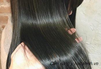 tóc dài đen óng mượt