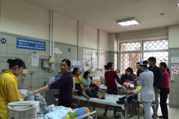 Miền bắc gia tăng bệnh nhi viêm phổi, tiêu chảy nhập viện kỳ nghỉ lễ