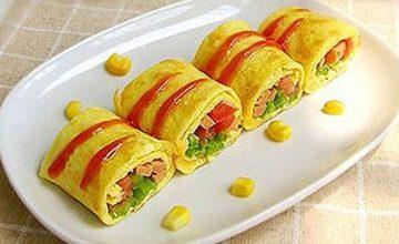 Nhanh gọn mà đơn giản với món trứng cuộn rau củ