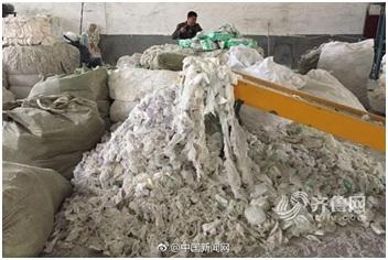 Sốc: Xưởng sản xuất bỉm người lớn từ rác thải tái chế