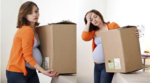 mẹ bầu làm việc nặng nhọc có thể gây suy dinh dưỡng bào thai