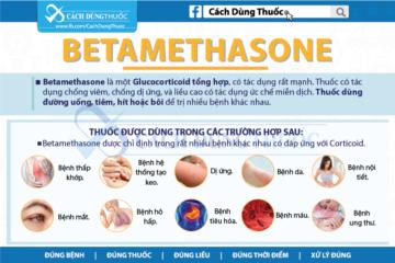 Hướng dẫn cách dùng thuốc Betamethasone