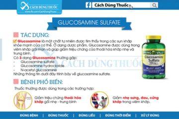 Hướng dẫn sử dụng Glucosamine