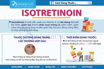 Hướng dẫn cách dùng Isotretinoin trong điều trị mụn trứng cá