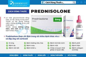 Hướng dẫn sử dụng thuốc Prednisolone