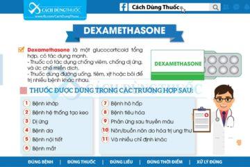 Hướng dẫn cách dùng thuốc Dexamethasone