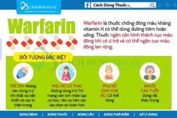 Hướng dẫn cách dùng thuốc Warfarin