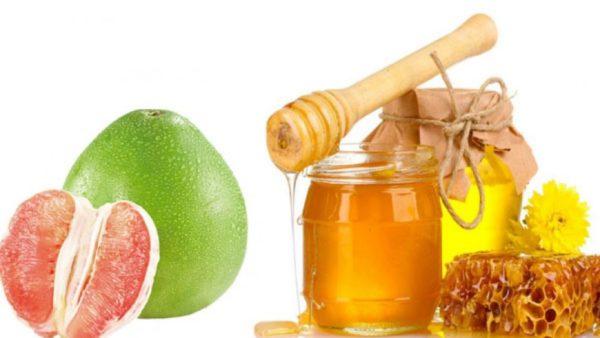 Trị ho với mật ong và tép bưởi
