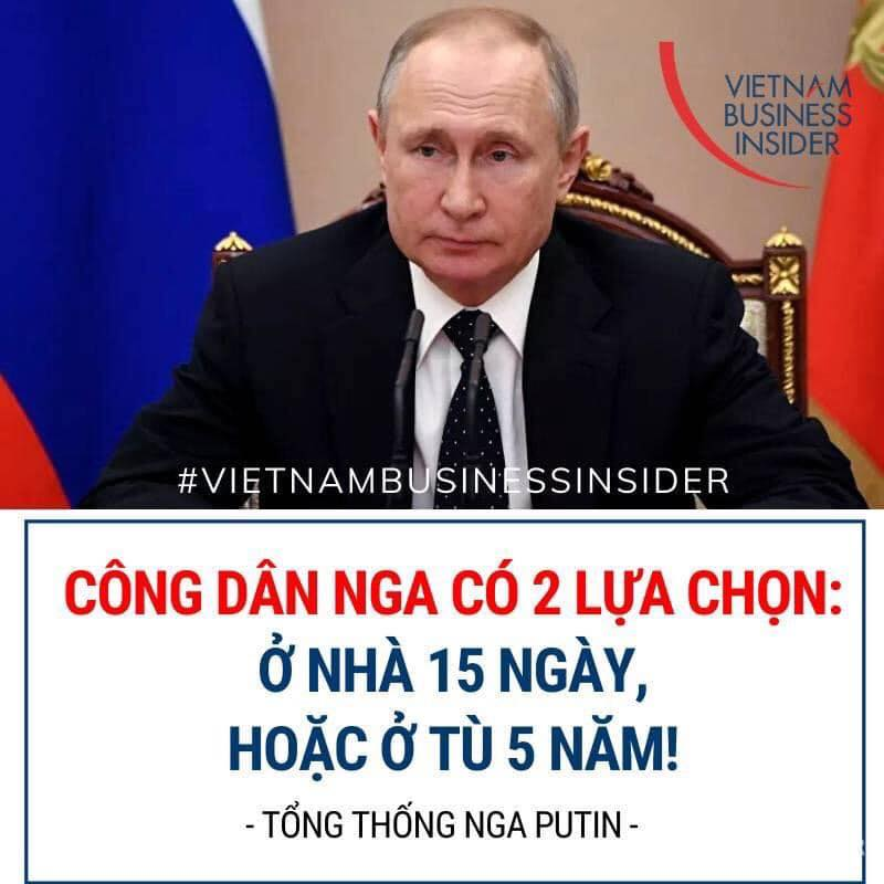 Người Nga có 2 lựa chọn: ở nàh 15 ngày hoặc ở tù 5 năm