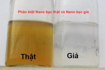 8 Dấu hiệu nhận biết nano bạc thật, nano bạc giả cực chuẩn