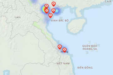 Bản đồ lây nhiễm Covid -19 tại Việt Nam